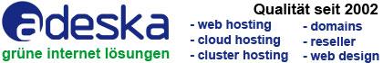 adeska internet lösungen //netzerfrischend anders! Premium Webhosting